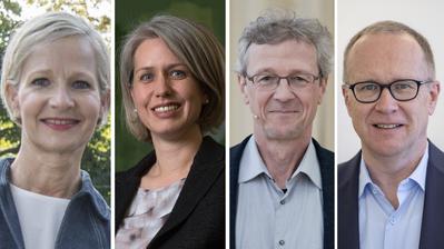 Franziska Bitzi (CVP), Adrian Borgula (Grüne), Martin Merki (FDP) (von links.). (Bilder: LZ)