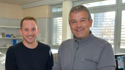 Wehren sich mittels Anzeigen: die beiden Wigoltinger Schulleiter Philipp Zimmer und Mirko Spada. ((Bild: Mario Testa, Januar 2019))