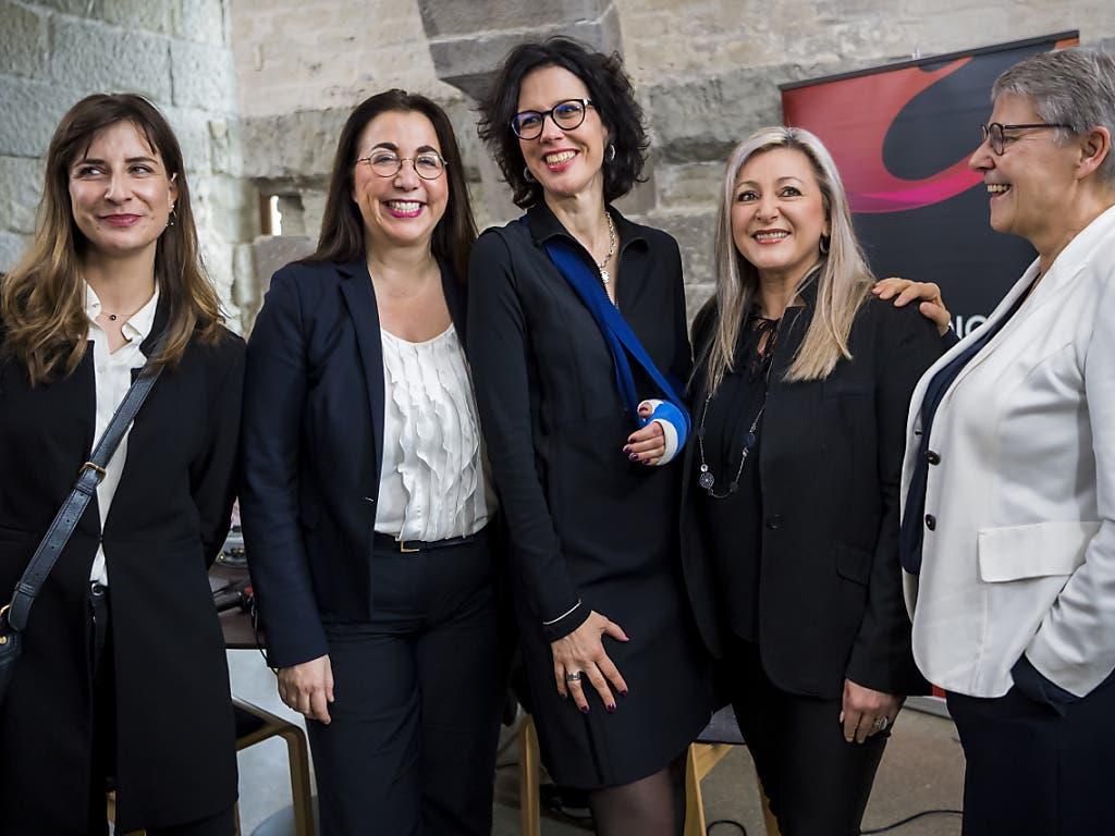 Die fünf Frauen (von links nach rechts) in der Waadtländer Kantonregierung: Rebecca Ruiz, Cesla Amarelle, Christelle Luisier (neu), Nuria Gorrite und Béatrice Metraux.