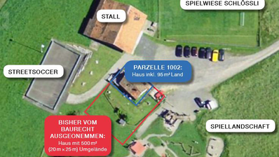 Die Parzelle Schlössli in der Gemeinde Sattel. (Bild: Sattel.ch)