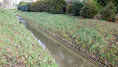 Ein «auf weiten Strecken öder, unstrukturierter Entwässerungskanal», schreibt die LZ: Hier der Horwer Dorfbach im Bereich Bachstrasse. (Bild: PD)