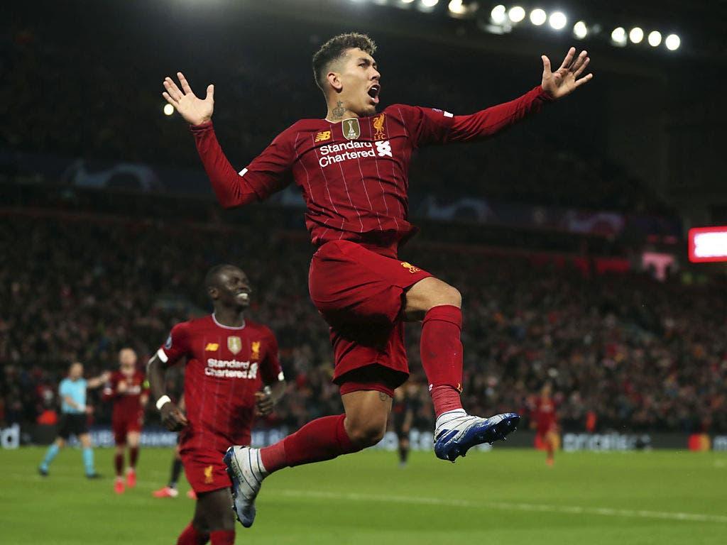 Da war Liverpools Welt noch in Ordnung: Roberto Firmino trifft zum 2:0