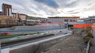 An die Überdeckung der Stadtautobahn zahlt die Stadt St.Gallen 18 Millionen Franken. (Bild: Urs Bucher (17. Dezember 2019))