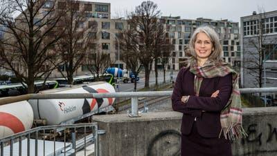 Stadträtin Franziska Bitzi Staub beim Alpenquai Luzern. (Philipp Schmidli, 6. März 2020)