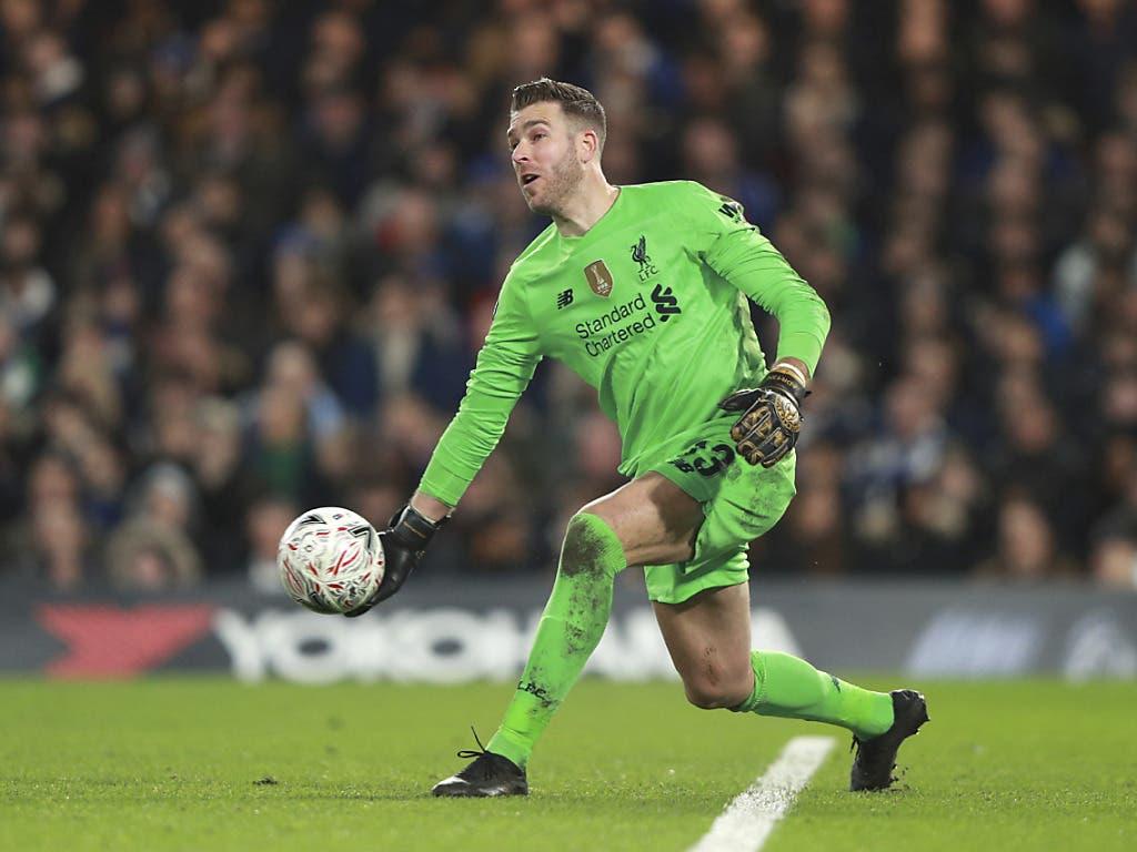 Liverpools Ersatzkeeper Adrian machte in einem entscheidenden Moment eine schlechte Figur