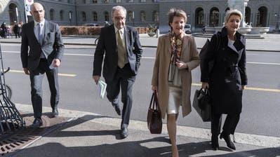 Die Bundesräte (Bild: Alessandro Della Valle / KEYSTONE)