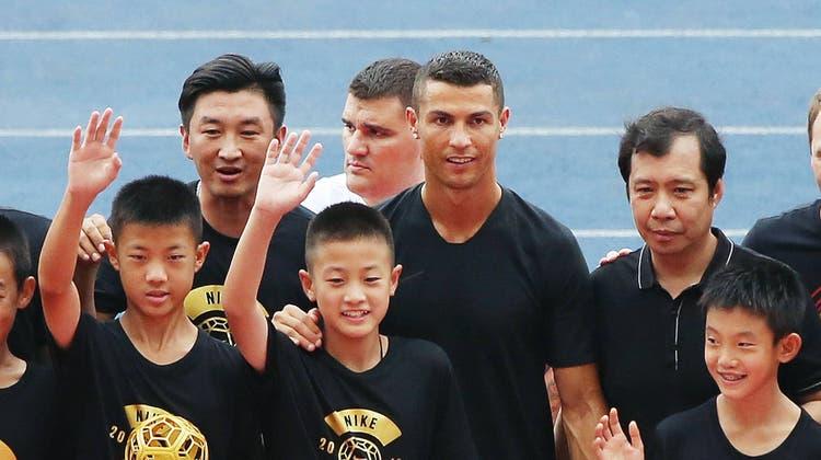 Gern gesehener Gast in China: Juve-Superstar Cristiano Ronaldo. (Getty)
