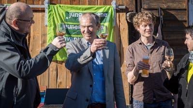 Die Grünen feiern im Eisenwerk in Frauenfeld. (Reto Martin)