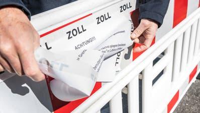Deutschland schliesst die Grenzen zur Schweiz wegen des Coronavirus. Der Grenzübergang Wiesenstrasse ist keine grüne Grenze mehr. (Andrea Stalder)