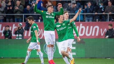 St.Galler Jubel - bald auch über den Meistertitel 2019/2020? (Bild: Urs Bucher)