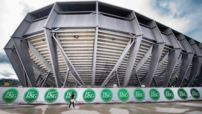 Der Betrieb beim FC St.Gallen ist zu einem grossen Teil eingestellt. (Benjamin Manser)
