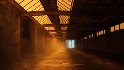 Publikum und Künstler müssen draussen bleiben: Blick in die leere Kunsthalle Arbon. Der Ausweg: Ein Streaming der Kulturangebote (Bild: Ladina Bischof)