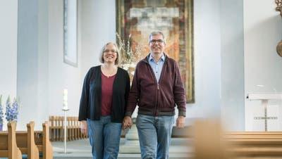 Das Pfarrehepaars Sabine und Andreas Gäumann. (Bild: Andrea Stalder)