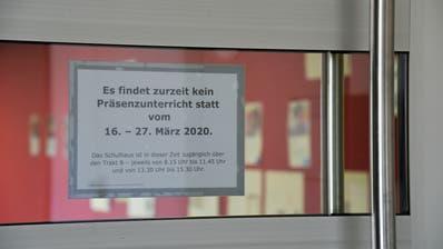 Im ganzen Land gibt es keinen Präsenzunterricht mehr. Die Schule Weinfelden hat sich bereits organisiert. ((Mario Testa))