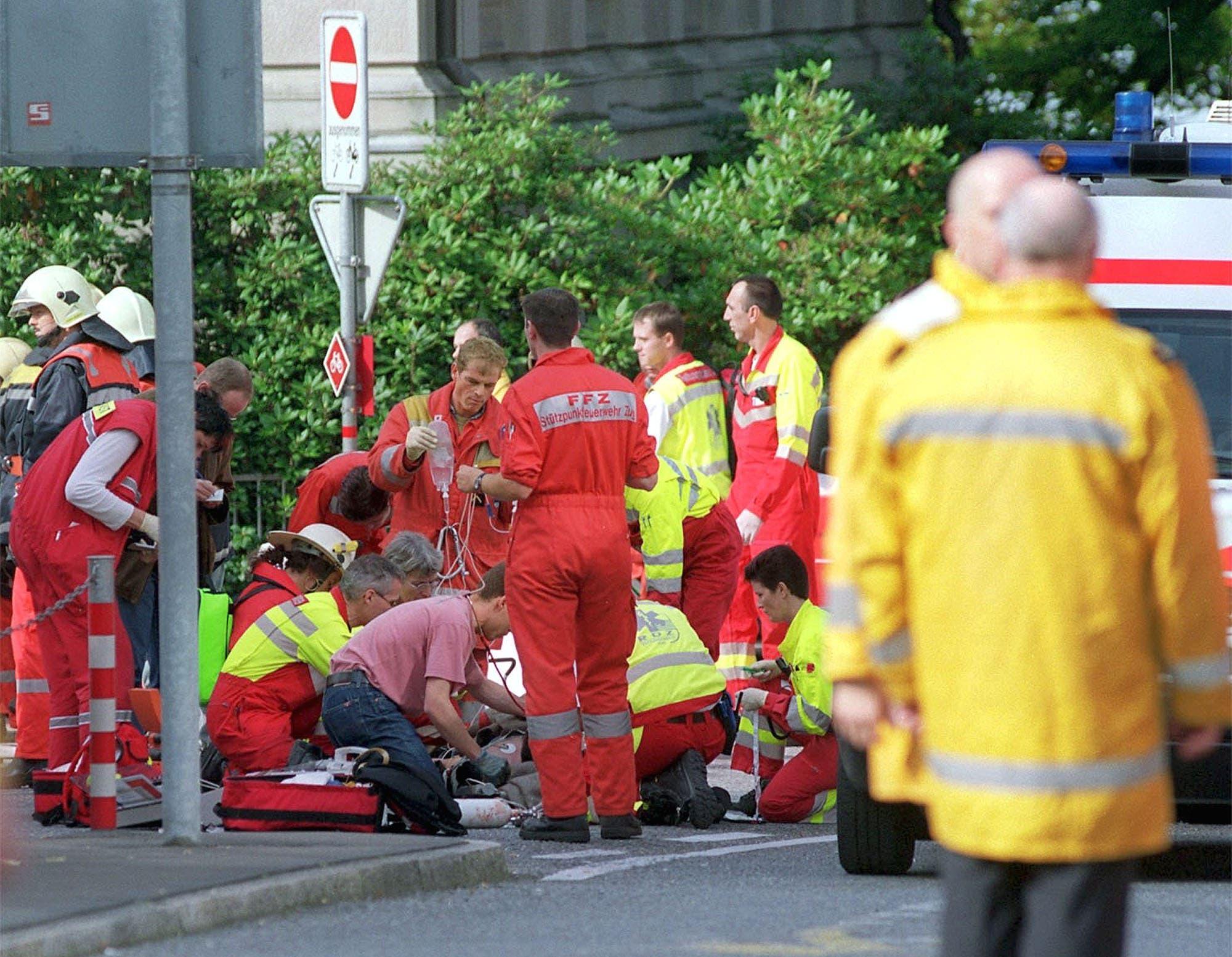 27. September 2001: Beim Attentat während einer Sitzung des Zuger Kantonsrats starben 14 Politiker.