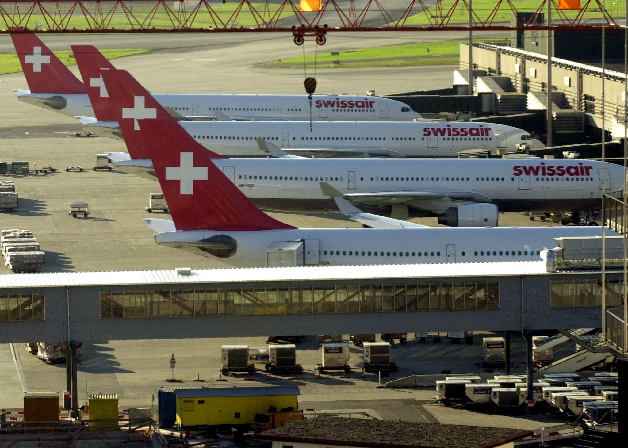 2. Oktober 2001: Das Grounding – der Tag, an dem die gesamte Swissair-Flotte am Boden bleibt.