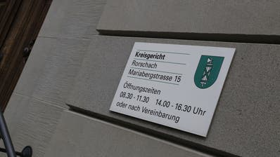 Am Montag wurde der Fall am Kreisgericht Rorschach behandelt. (Rahel Jenny Egger)