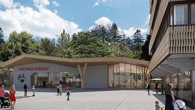 So könnte in Zukunft der Besucherbereich mit Eingang zum Tierpark Goldau aussehen. (Bild: Natur- und Tierpark Goldau)