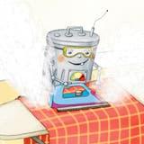 Robert räumt nicht nur auf, er putzt und bügelt und sortiert und spült. (Illustration:Katrin Dageför)