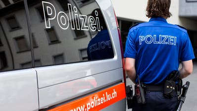 [Editor's note: photo mise-en-scene] A police officer of the cantonal police of Lucerne standing next to a police car, photographed  in Lucerne, Switzerland, on August 12, 2015. (KEYSTONE/Alexandra Wey)[Editor's note: gestellte Szene] Ein Polizist der Kantonspolizei Luzern steht neben einem Einsatzfahrzeug, aufgenommen am 12. August 2015 in Luzern. (KEYSTONE/Alexandra Wey) (Alexandra Wey / KEYSTONE)