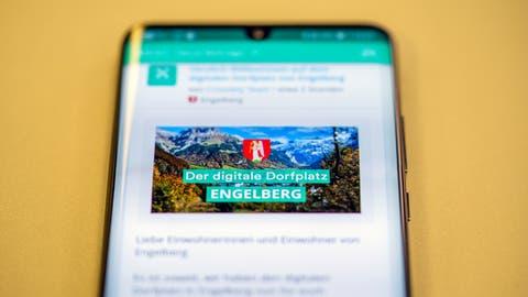 Die Gemeinde Engelberg führt die digitale Plattform Crossiety ein. (Bild: Adrian Venetz)