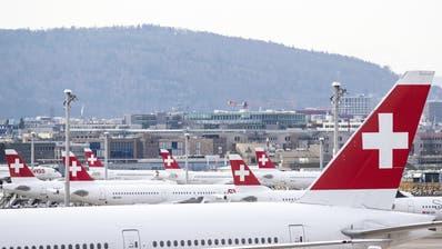Die Swiss hat inzwischen ihre Flugkapazitäten um rund 80 Prozent gesenkt. Folgt bald das temporäre Grounding der gesamten Flotte? (Alexandra Wey / KEYSTONE)