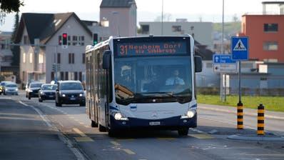 Die Buslinie 31/32 fährt vom Bahnhof Baar nach Neuheim Dorf. (Bild: Stefan Kaiser (Baar, 18. März 2020))