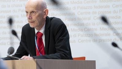 Daniel Koch vom Bundesamt für Gesundheit musste an der Medienkonferenz vom Donnerstag erneut diverse Fragen beantworten. (Keystone)