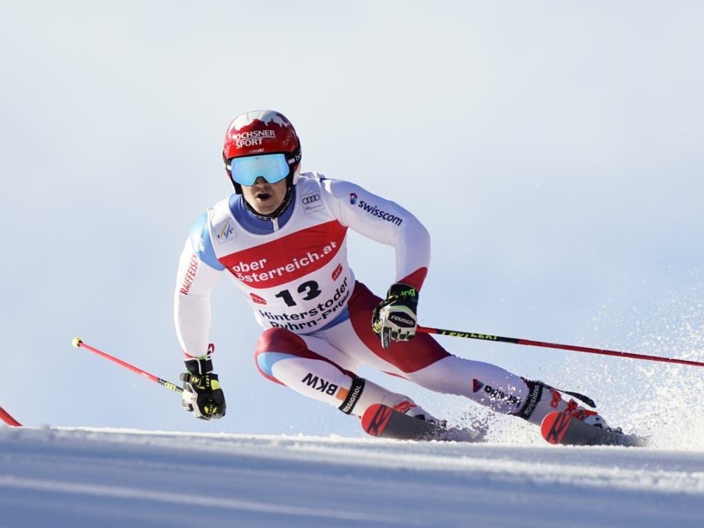 Loïc Meillard machte im zweiten Lauf mit Bestzeit gleich 15 Ränge gut