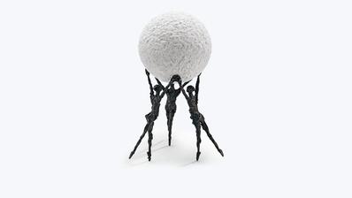 """Skulptur """"Gemeinsam sind wir stark"""" von Luise Kött-Gärtner"""