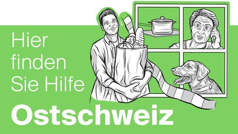 Sie können Ihre Einkäufe nicht mehr selber erledigen? In der Ostschweiz gibt es dafür zahlreiche Hilfsaktionen. (Bild: Keystone)