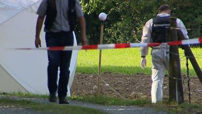 Die Tat geschah 2015 auf offenem Feld im Gebiet Lochermoos unweit des Einfamilienhauses des Opfers. (Bild: Beat Kälin/BRK News)