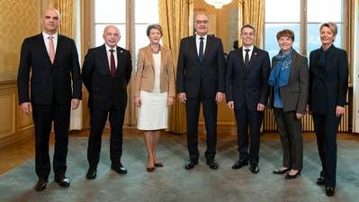 Der aktuelle Bundesrat, hier im Dezember 2018 nach der Wahl von Viola Amherd und Karin Keller-Sutter. (Peter Klaunzer/Keystone)
