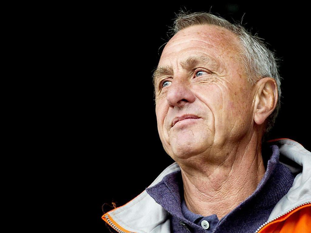 Johan Cruyff in späten Jahren, nach dem reichen Leben eines echten Fussballstars