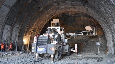 Eine der aktuellen Baustellen: Das Lochweidlitunnel der Umfahrung Wattwil. (Bild: Sabine Camedda)