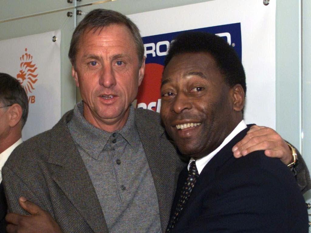 Zwei Grosse des Weltfussfalls, zwei Freunde: Johan Cruyff und Pelé
