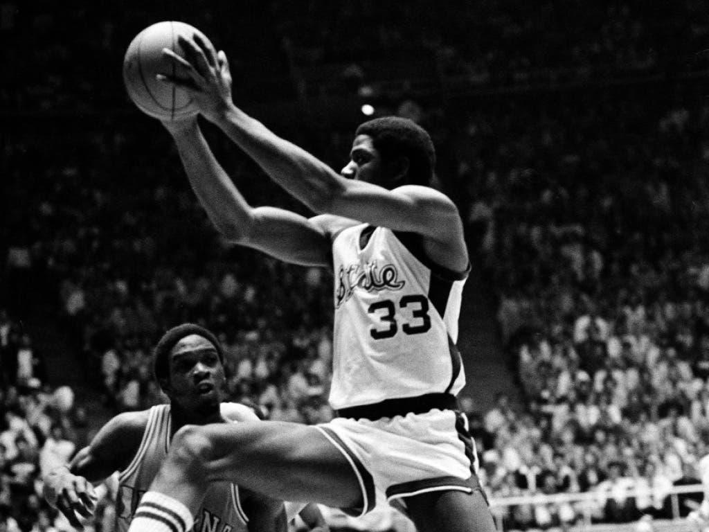 Magic Johnson am 26. März 1979 im Final der NCAA-Meisterschaft