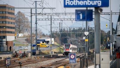 Die Haltestelle Rothenburg Station erhält eine Direktverbindung nach Olten. (Bild: Boris Bürgisser (26. März 2020))