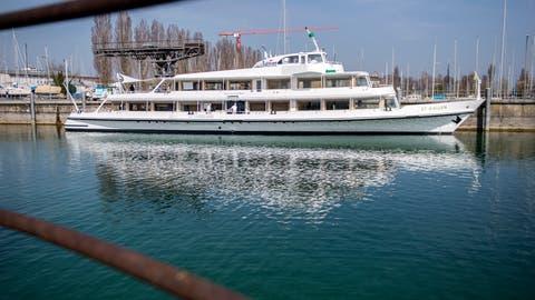 Romanshorn TG - Die Schweizerische Bodensee Schifffahrt (SBS) renoviert trotz Coronakrise die MS St. Gallen in ihrer Werft in Romanshorn. (Reto Martin)