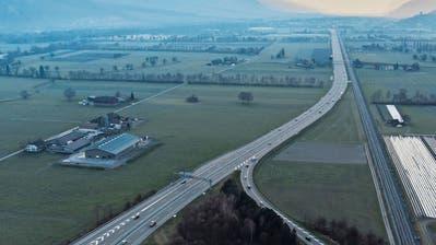 Eigentlich wäre Stosszeit: Autobahnverzweigung Sarganserland, aufgenommen zur morgendlichen Hauptverkehrszeit.