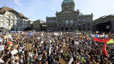 Verboten: Zurzeit darf in der Schweiz nicht demonstriert werden – auch nicht vor dem Bundeshaus. (Keystone)