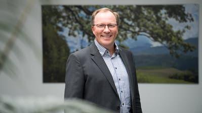Hat gut lachen: Markus Gabriel (SVP) ist neuer Gemeindepräsident von Adligenswil. (Bild: Eveline Beerkircher (Adligenswil, 29. März 2020))