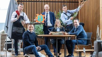 Das OK: Adrian Affentranger, Werner Frey, Roland Burri (hintere Reihe von links nach rechts). Josef Albisser, Vanessa Kunz, Oliver Küttel(vordere Reihe von links nach rechts). (Bild: Thomi Studhalter)
