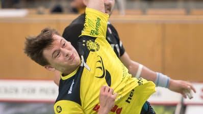 St. Otmars Flügel David Fricker im Heimspiel im Oktober gegen Suhr Aarau (Bild: Michel Canonica)