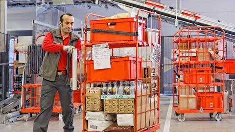 Blick ins neue WarenumschlagszentrumvonPistor am Hauptsitz in Rothenburg. (Bild: PD)