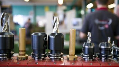 Werkzeug für Fräsmaschinender Starrag. Auf ihren Bearbeitungszentren werden zum BeispielTurbinenschaufeln für Flugzeugtriebwerke gefräst. (Bild: Urs Jaudas)