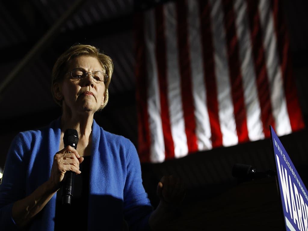 Die Senatorin Elizabeth Warren musste im Rennen um die demokratische Kandidatur für die US-Präsidentschaft eine herbe Niederlage einstecken: Sie kam in ihrem Heimat-Bundesstaat Massachusetts nach Prognosen nur auf Platz drei.