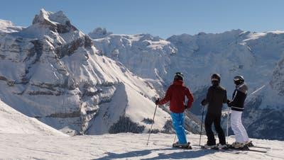 Skifahrer auf dem Brunni inEngelberg. (Bild: PD)