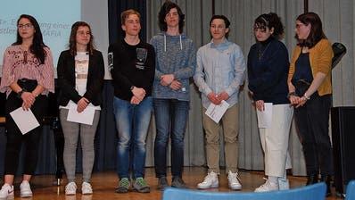 Die Prämierten der FMS und Kantonsschule Wattwil.
