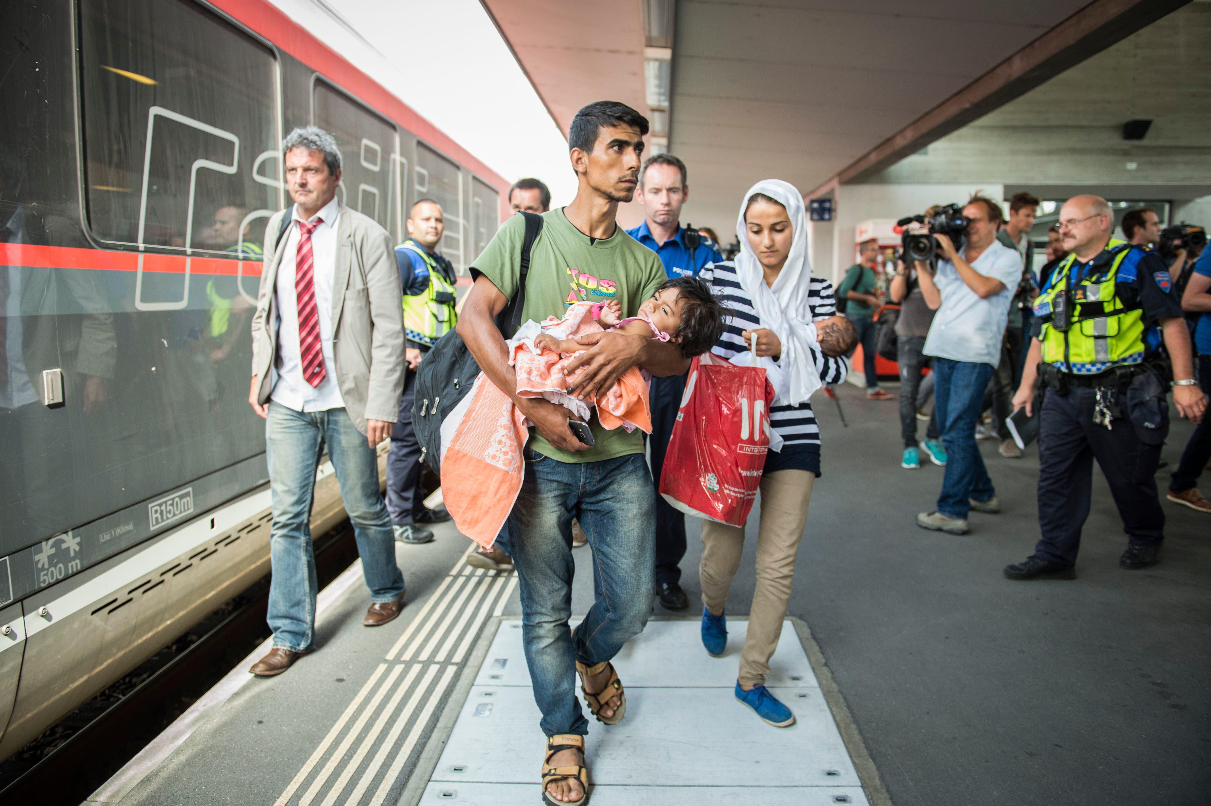 Ein Bild vom September 2015, das in Erinnerung bleibt: ankommende Flüchtlinge im Bahnhof Buchs.